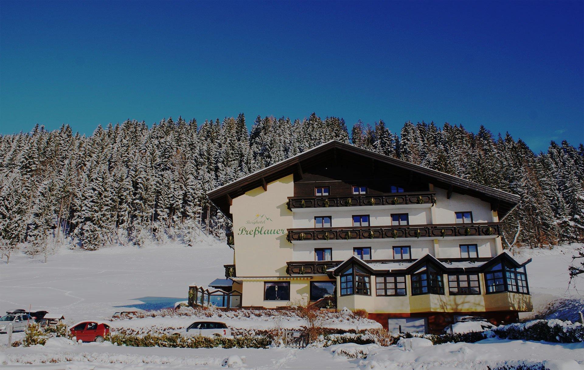Berghotel Presslauer im Winter